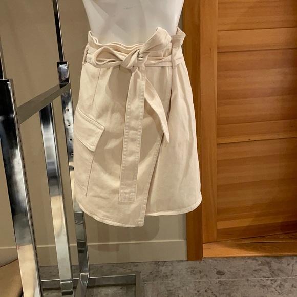 H&M denim wrap skirt